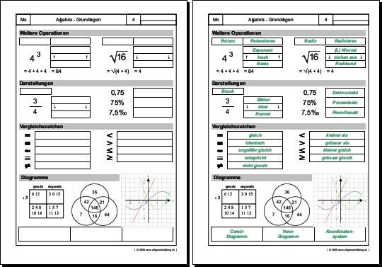 album unterrichtsmaterialien mathematik algebragrundlagen. Black Bedroom Furniture Sets. Home Design Ideas