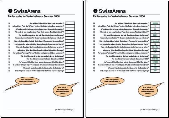 ALBUM allgemeinbildung.ch/Arbeitsblaetter ...