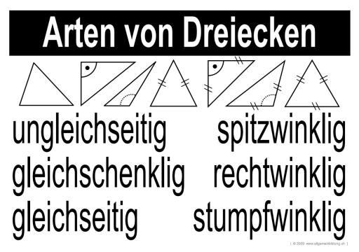 mathematik geometrie lernplakate wissensposter dreiecke arten 8500 bungen arbeitsbl tter. Black Bedroom Furniture Sets. Home Design Ideas