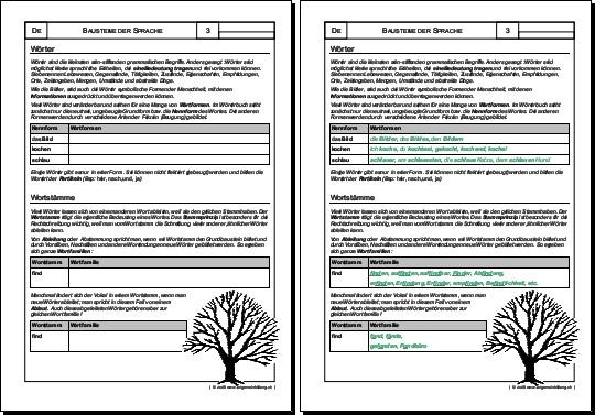 Deutsch | Arbeitsblatt Wörter | 8500 Übungen, Arbeitsblätter, Rätsel ...