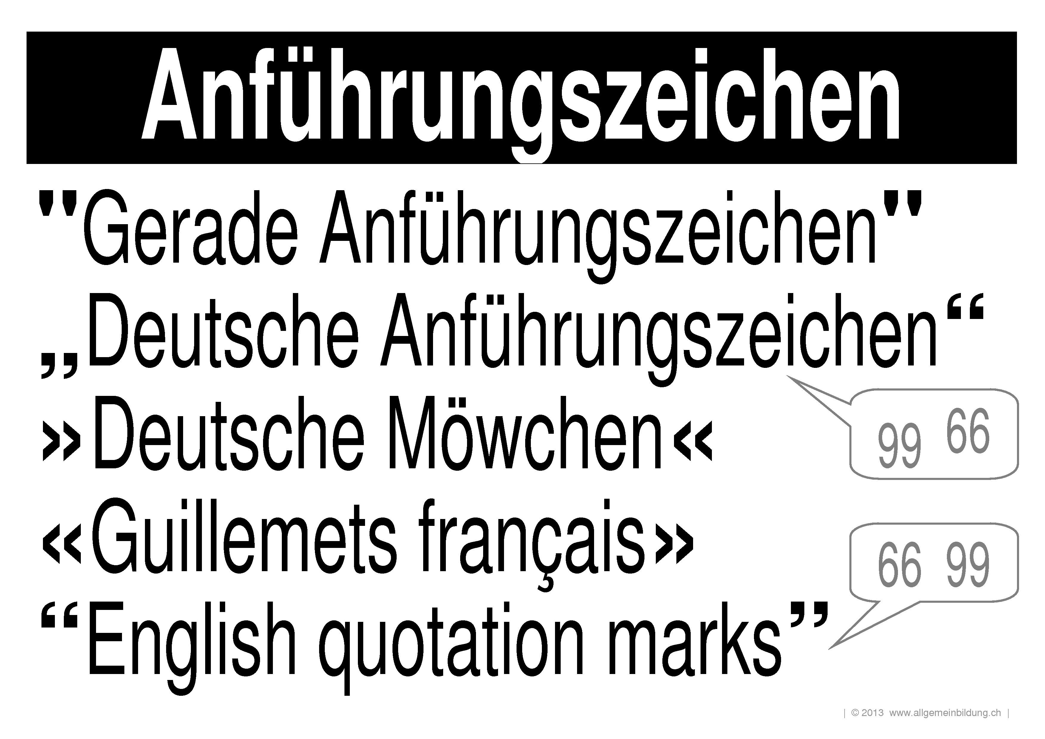 Deutsch   LernPlakate Wissensposter Anführungszeichen   8500 Übungen ...