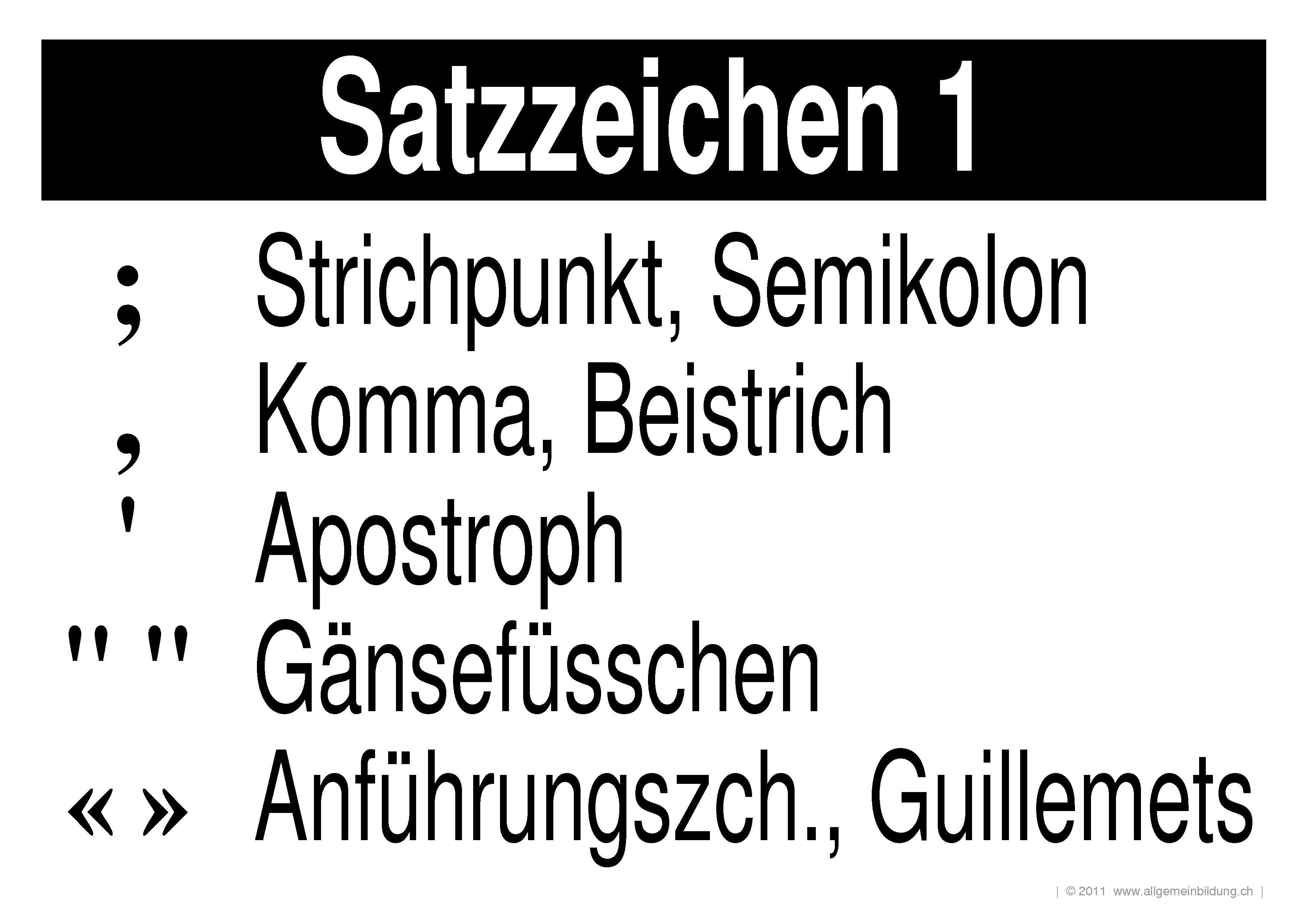 deutsch lernplakate wissensposter satzzeichen 1 8500
