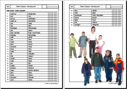 Englisch   Arbeitsblatt First Choice English Vocabulary   8500 ...