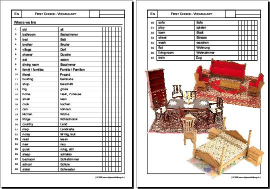 englisch arbeitsblatt first choice english vocabulary 8500 bungen arbeitsbl tter r tsel. Black Bedroom Furniture Sets. Home Design Ideas