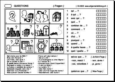 franz sisch arbeitsblatt questions 8500 bungen arbeitsbl tter r tsel quiz tests. Black Bedroom Furniture Sets. Home Design Ideas
