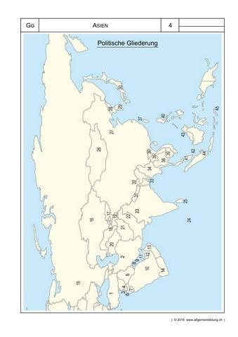 Geografie | Arbeitsblatt Asien Welthandel | 8500 Übungen ...