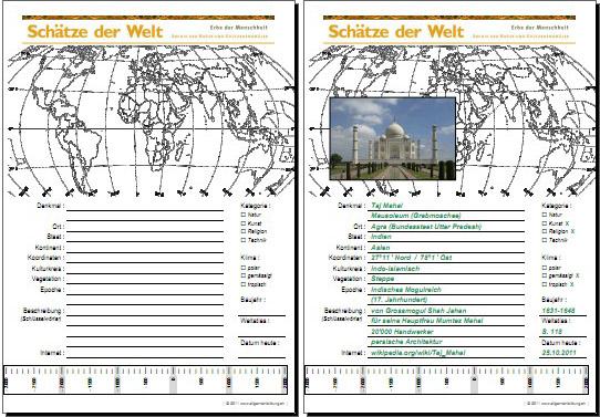 Geografie | UNESCO Welterbe Schätze der Welt - Indien - Taj Mahal ...