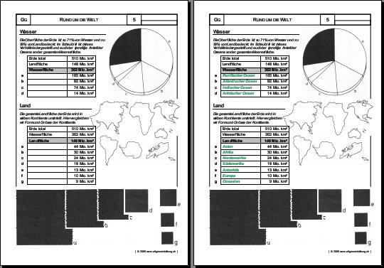 Geografie | Welt, Wasser & Land | 8500 Übungen, Arbeitsblätter ...