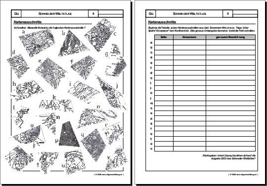 geografie arbeitsblatt kartenausschnitte 8500 bungen arbeitsbl tter r tsel quiz tests. Black Bedroom Furniture Sets. Home Design Ideas