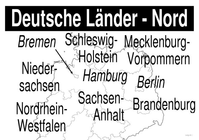 geografie lernplakate wissensposter deutsche bundesl nder nord 8500 bungen. Black Bedroom Furniture Sets. Home Design Ideas