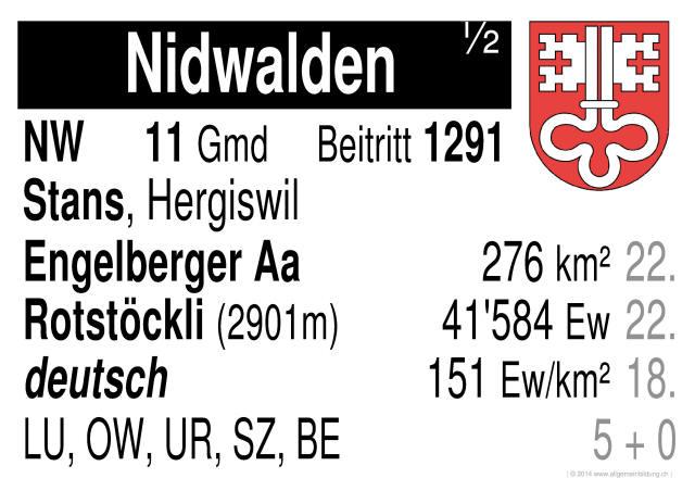 geografie lernplakate wissensposter nidwalden schweizer kantone 8500 bungen arbeitsbl tter. Black Bedroom Furniture Sets. Home Design Ideas