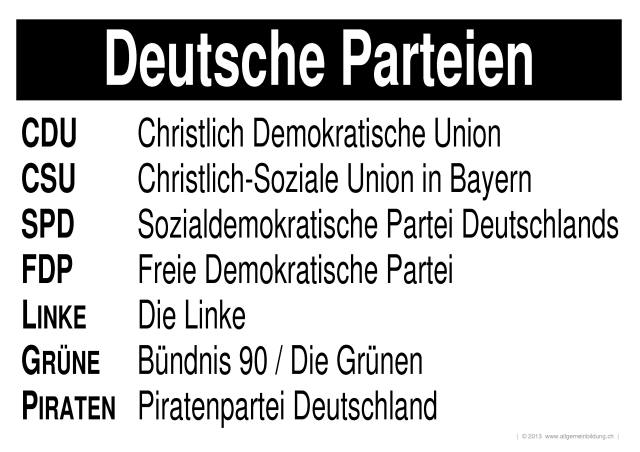 geschichte politik lernplakate wissensposter deutsche parteien 8500 bungen. Black Bedroom Furniture Sets. Home Design Ideas