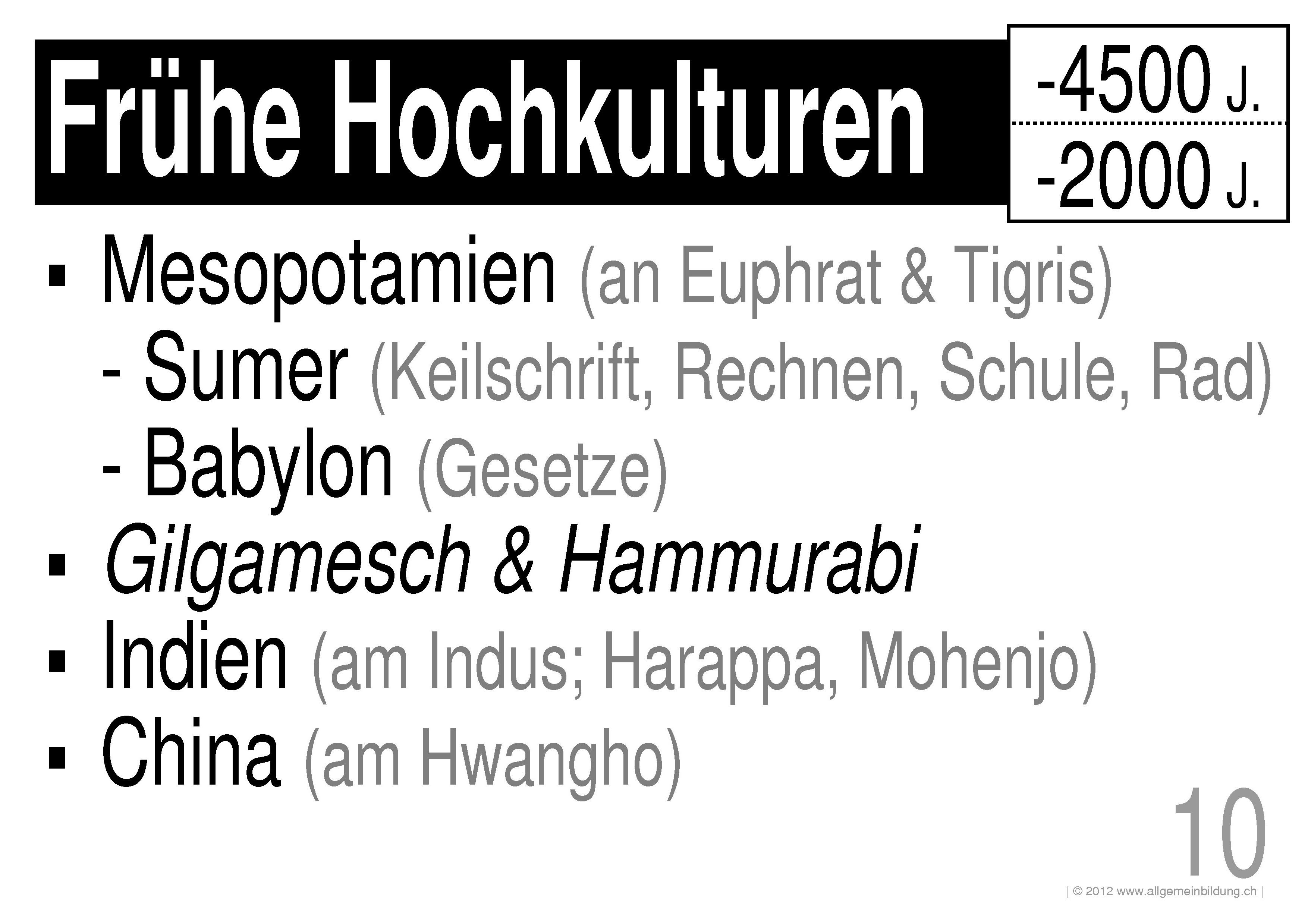 Geschichte & Politik | LernPlakate WissensPoster Frühe Hochkulturen ...