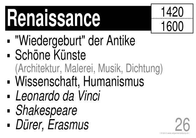 Geschichte & Politik | LernPlakate WissensPoster Renaissance ...