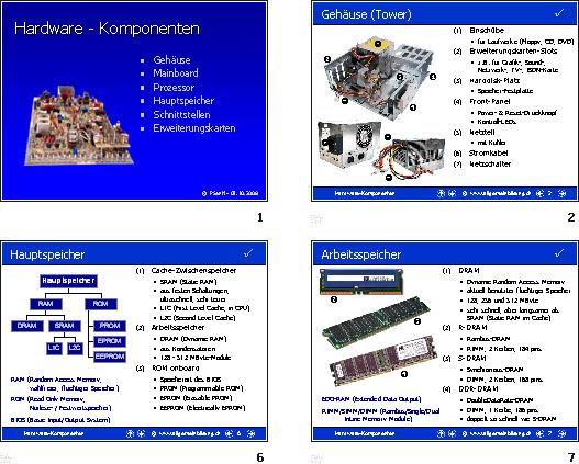 informatik pr sentation hardware komponenten 8500 bungen arbeitsbl tter r tsel quiz. Black Bedroom Furniture Sets. Home Design Ideas