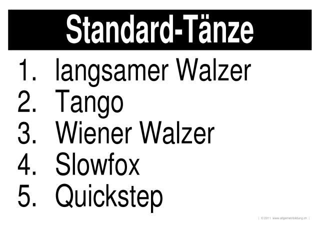 Kunst & Kultur | LernPlakate WissensPoster Standard-Tänze | 8500 ...