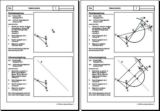 Mathematik & Geometrie | Arbeitsblatt Spiegelungen | 8500 Übungen ...