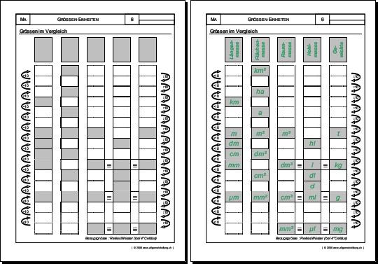 mathematik geometrie arbeitsblatt gr ssen im vergleich 8500 bungen arbeitsbl tter. Black Bedroom Furniture Sets. Home Design Ideas