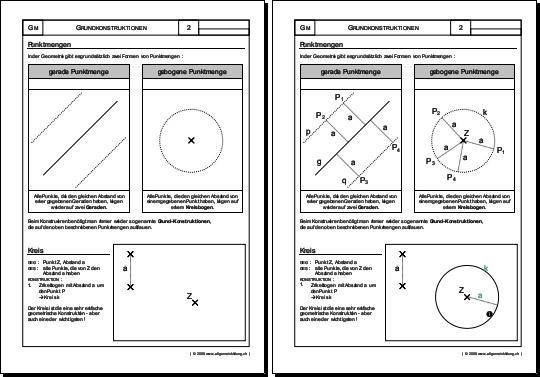 Mathematik & Geometrie | Arbeitsblatt Punktmengen | 8500 Übungen ...