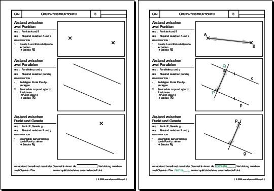 Mathematik & Geometrie | Arbeitsblatt Abstände | 8500 Übungen ...