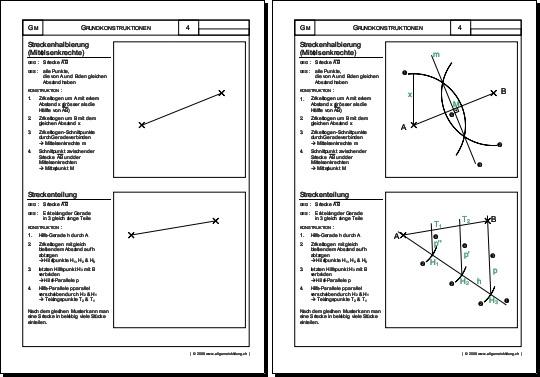 Mathematik & Geometrie | Arbeitsblatt Streckenteilung | 8500 Übungen ...