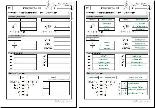 Mathematik & Geometrie | Arbeitsblatt q_Stellwerk-Check-Test ...