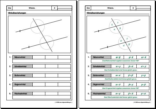 mathematik geometrie arbeitsblatt winkel. Black Bedroom Furniture Sets. Home Design Ideas