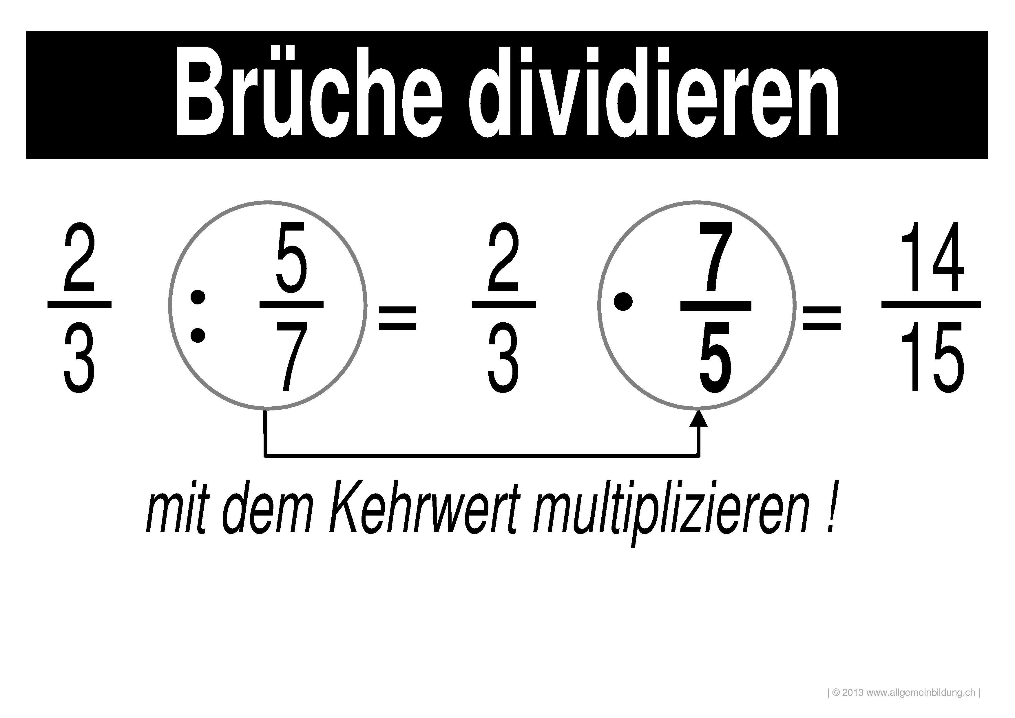 mathematik & geometrie | lernplakate wissensposter bruchrechnen
