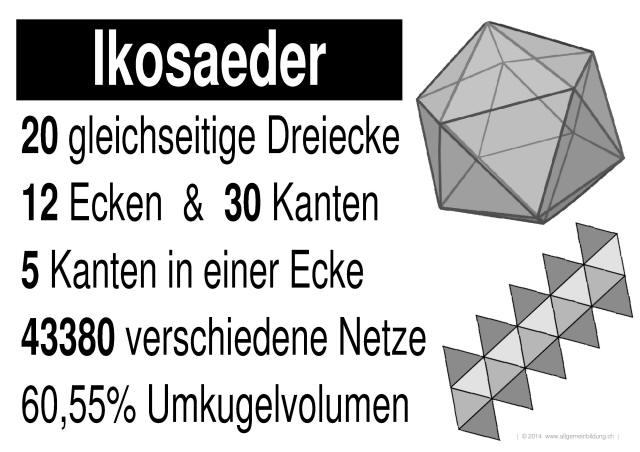 Mathematik & Geometrie | LernPlakate Wissensposter Ikosaeder ...