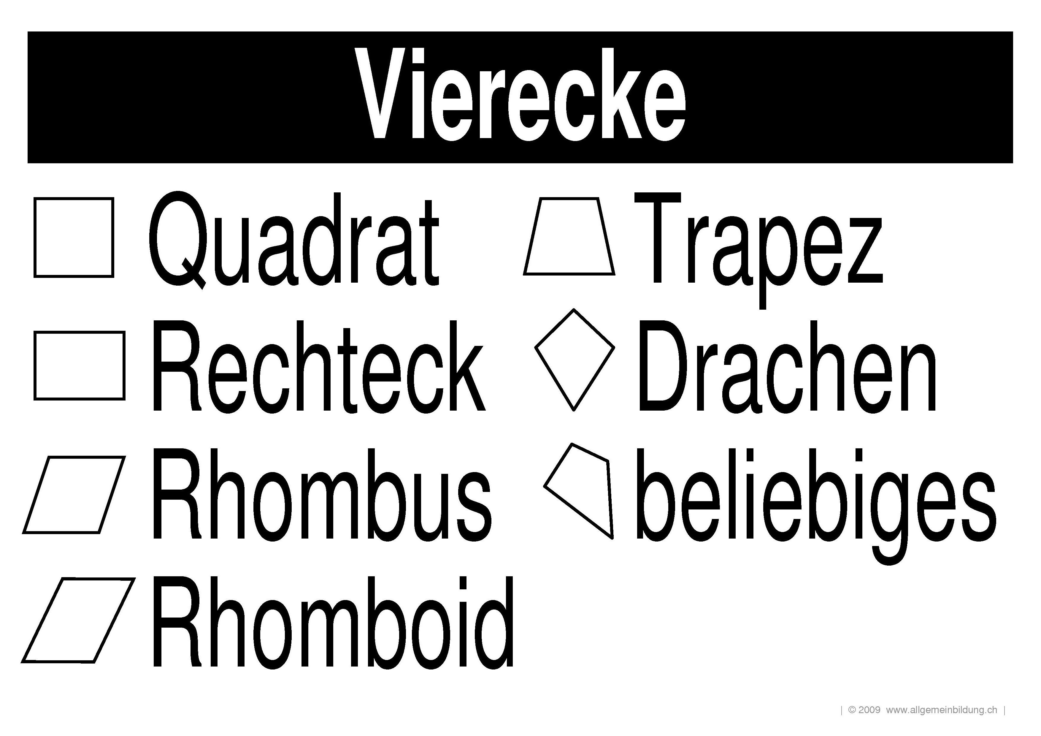 Magnificent Geometrie Arbeitsblatt Drachen Und Trapeze Image ...