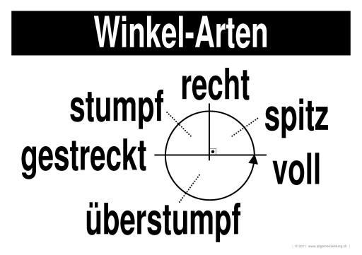Mathematik & Geometrie   LernPlakate Wissensposter Winkel-Arten ...