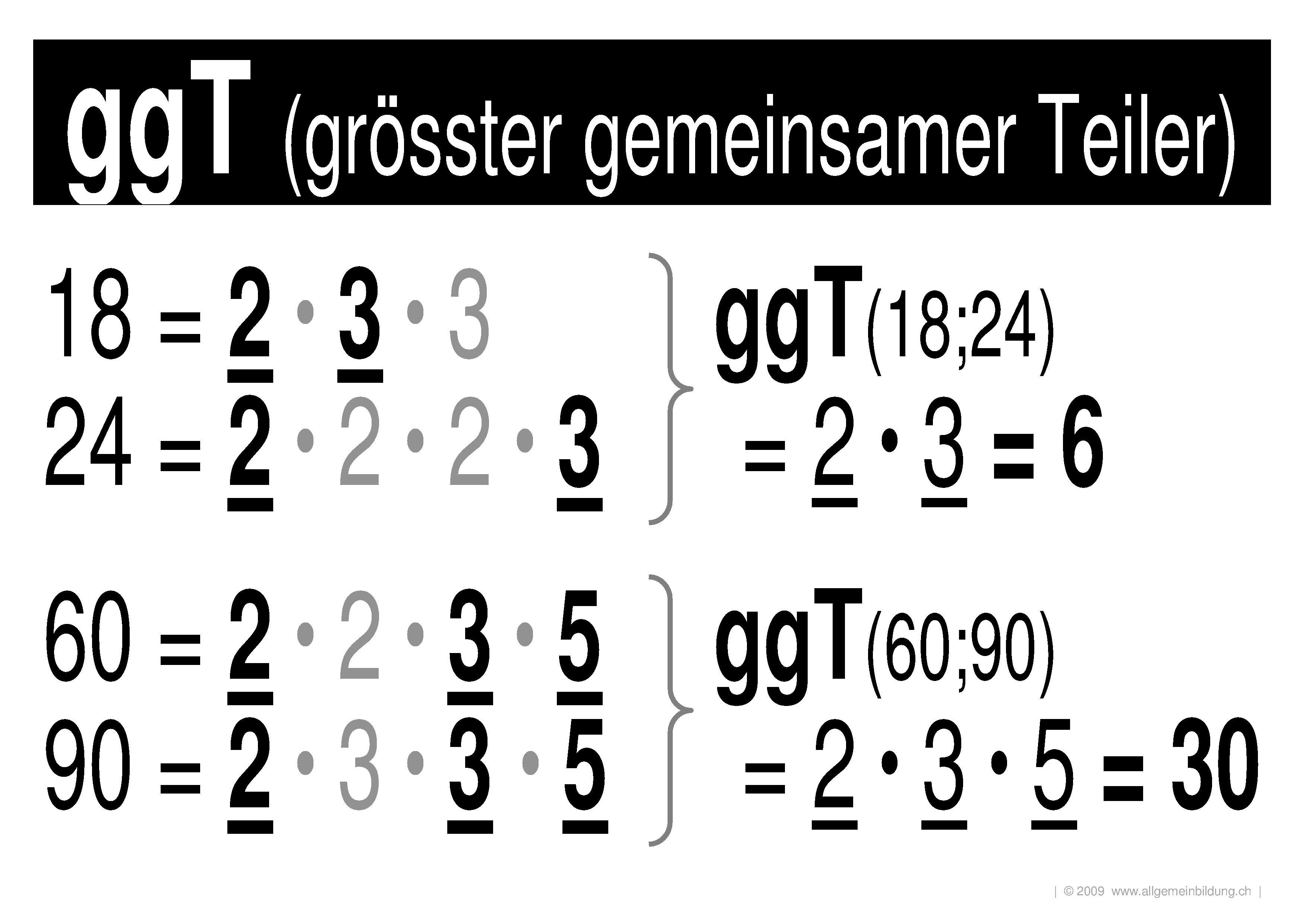 mathematik geometrie lernplakate wissensposter ggt gr sster gemeinsamer teiler 8500. Black Bedroom Furniture Sets. Home Design Ideas