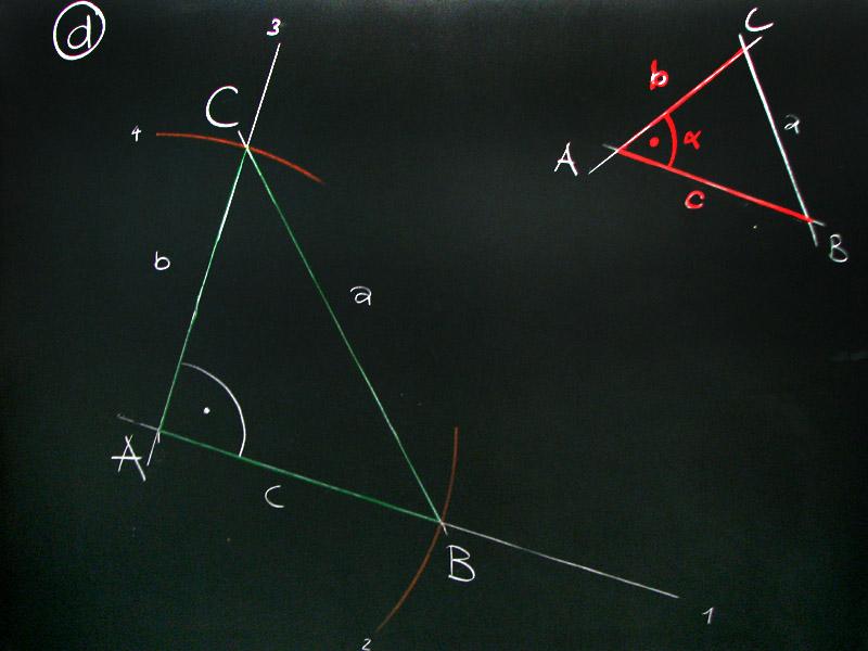 mathematik amp geometrie tafelbilder dreieckekonstruktion