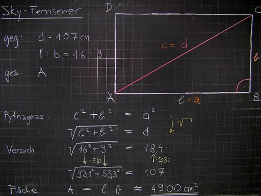 Mathematik & Geometrie | Tafelbilder Fernseher Monitor Diagonale ...