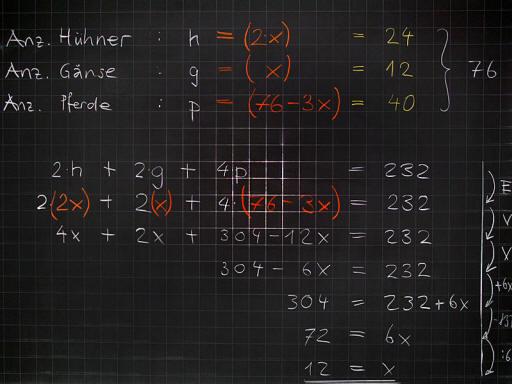 Mathematik & Geometrie   Tafelbilder Gleichungen   8500 Übungen ...