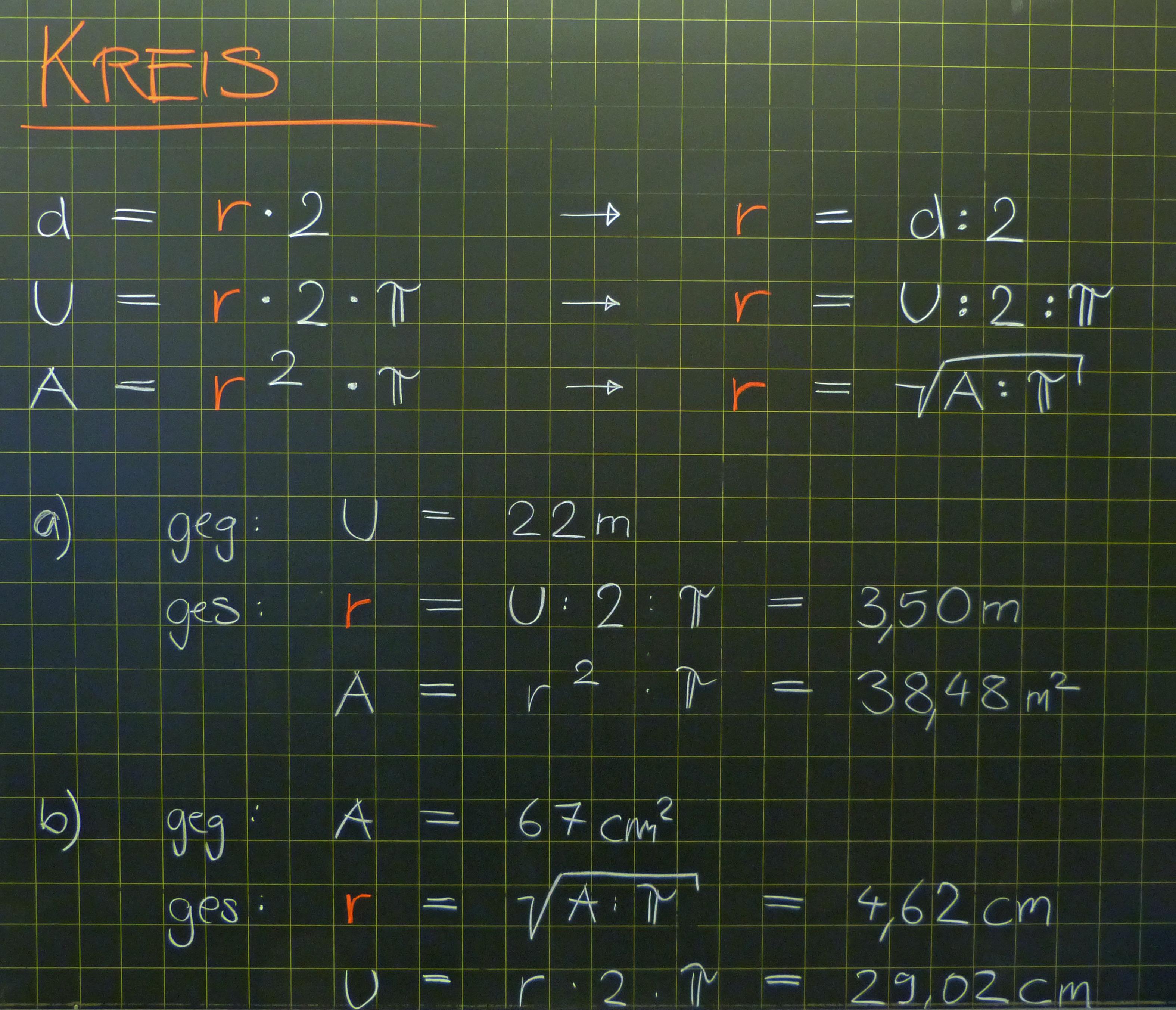 mathematik geometrie tafelbilder kreis berechnung. Black Bedroom Furniture Sets. Home Design Ideas