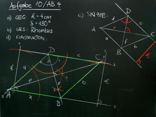 Mathematik & Geometrie   Tafelbilder Parallelenvierecke-Konstruktion ...