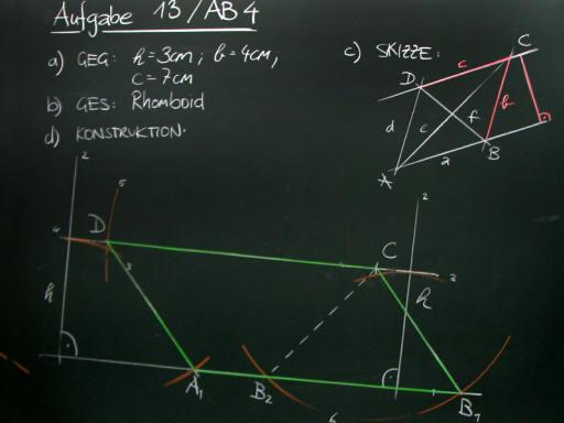 Mathematik & Geometrie | Tafelbilder Parallelenvierecke-Konstruktion ...