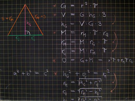 Mathematik & Geometrie | Tafelbilder Pyramide Berechnungen | 8500 ...