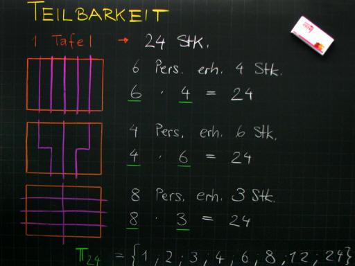 Mathematik & Geometrie | Tafelbilder Teilbarkeitsregeln | 8500 ...