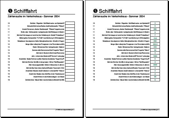 Physik | Arbeitsblatt Verkehrshaus Luzern Schifffahrt | 8500 Übungen ...