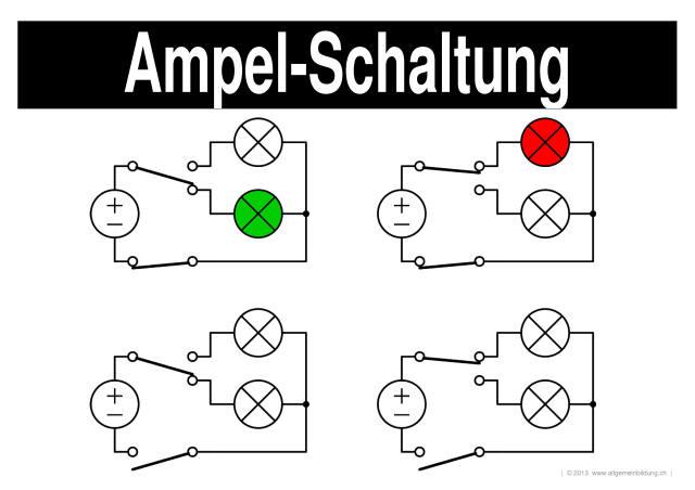 Physik | LernPlakate WissensPoster Elektrische Ampel-Schaltung ...