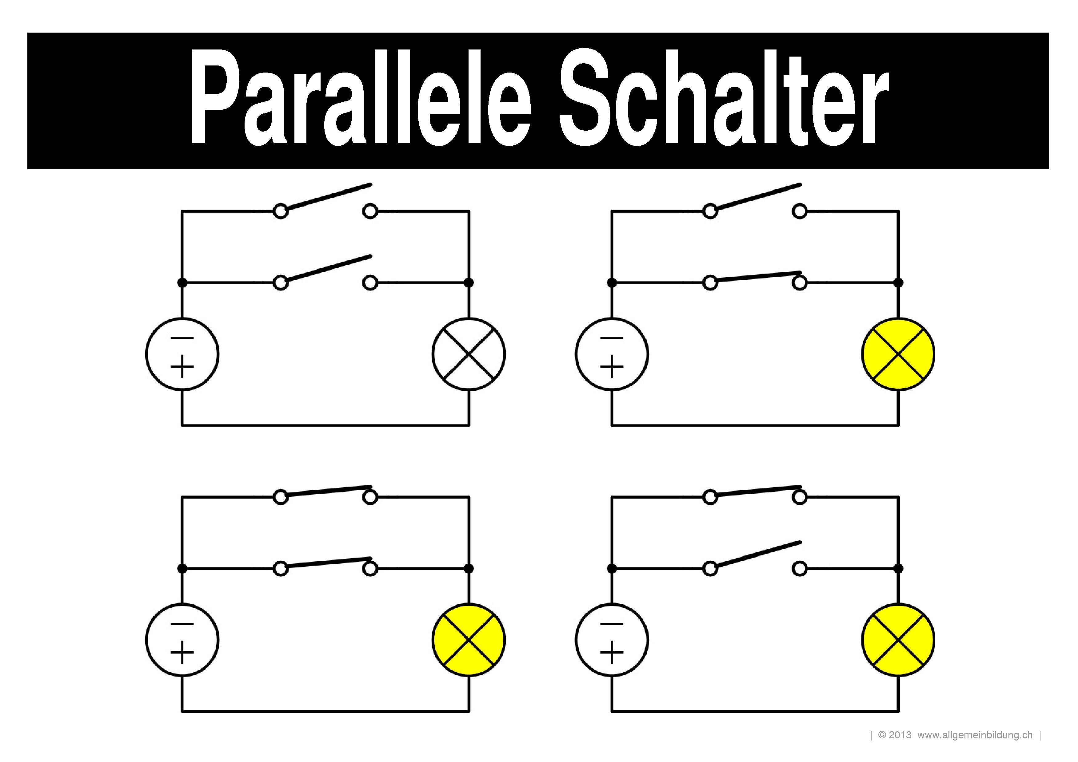 Erfreut Elektrischer Schalter In Reihe Ideen - Der Schaltplan ...