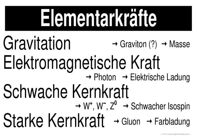 Physik | LernPlakate WissensPoster Elementarkräfte | 8500 Übungen ...