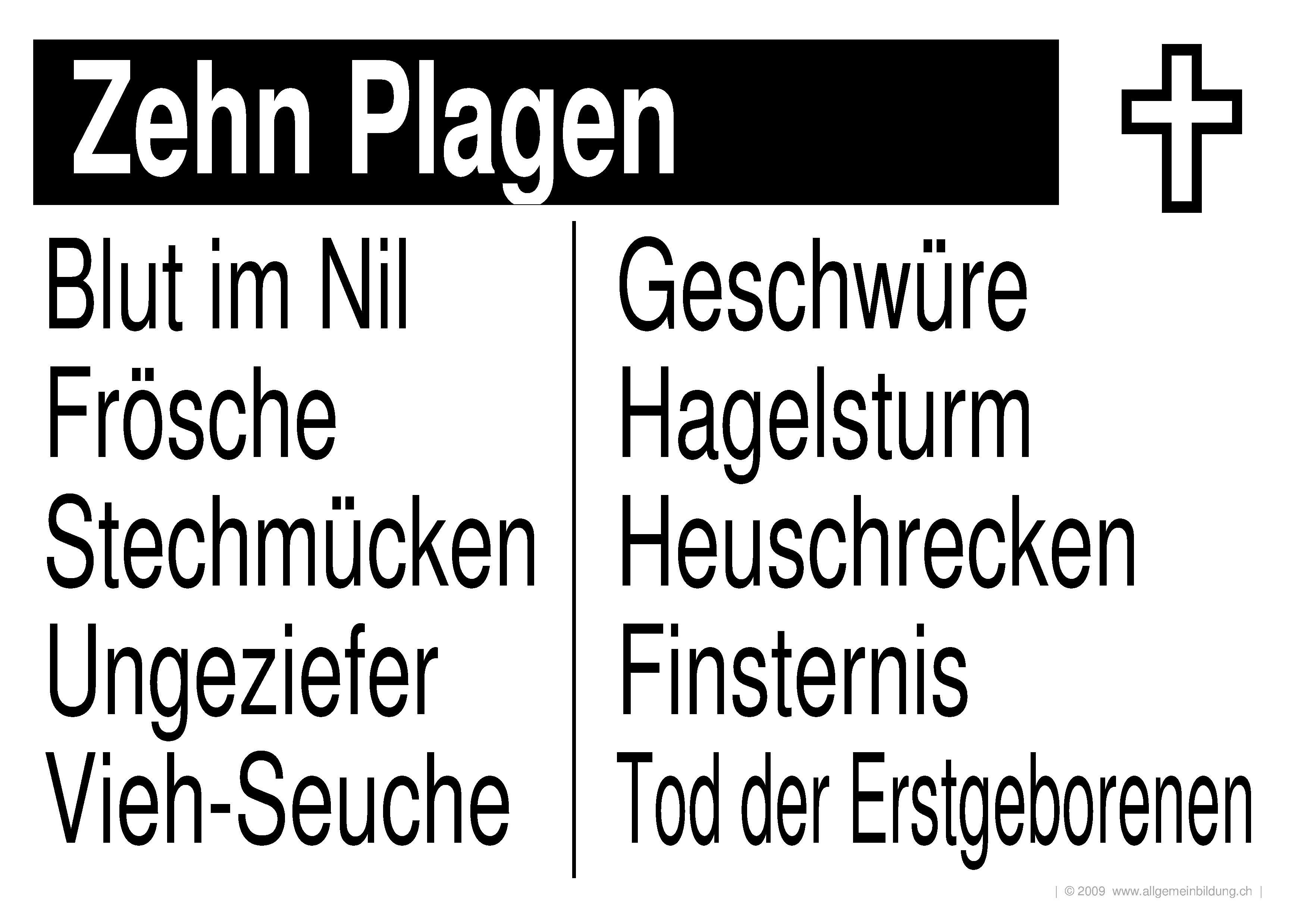 Religion & Mythologie | LernPlakate Wissensposter Christentum Zehn ...