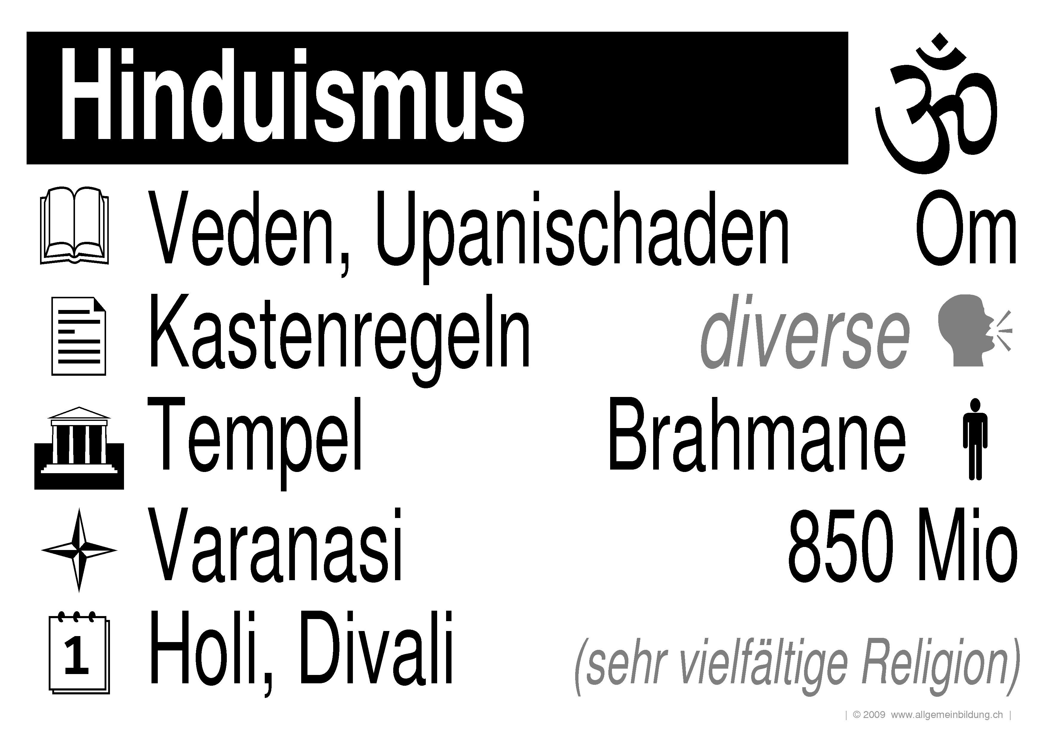 Religion & Mythologie | LernPlakate Wissensposter Hinduismus ...