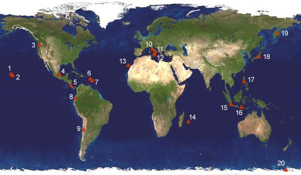 Vulkane Der Erde Karte.Geografie Vulkane Der Welt 01a Lernen üben Online übungen